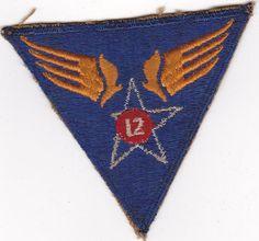 Original US Army WWII 12th Air Force Patch WW2 USAAF. $14.99, via Etsy.