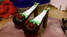 Cherry cup cake shoes