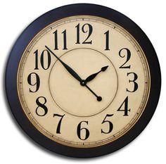 Large Wall Clock 24in CAMBRIDGE TAN DELUXE by JenniferClocks. , via Etsy.