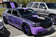 Purple Heart Dodge Magnum...Just O.M.G.