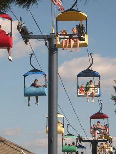 Sky ride - Illinois State Fair, Springfield (photo by E. Pensoneau)