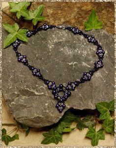 Collier Esmeralda schwarz violett silber