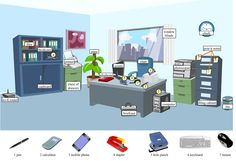 Office vocabulary infographic