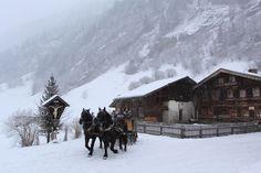 http://www.grossarlerhof.at/en-horsedrawn-sleighrides.htm Horse-drawn sleigh ride