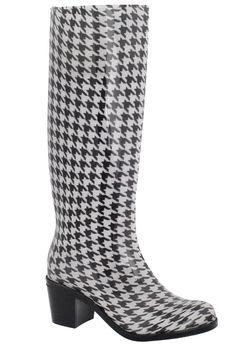Houndstooth Rain Boot.