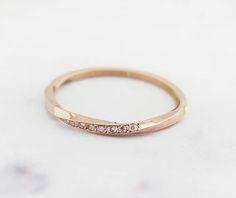 Mobius ring Diamond mobius ring Mobius wedding band Pave