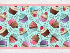 Küchenbordüre mit Cupcakes