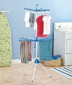 2 Tier Laundry Clothes Garment Drying Rack Laundry Room New