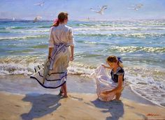 ~ Alexander Averin: Girls on the beach