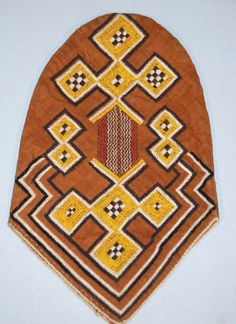 Africa | Bambada cap from the Limba or Kuranko people of northern Sierra Leone | Embroidered cloth