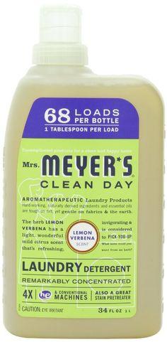 Mrs. Meyer's Clean Day Lemon Verbena Laundry Detergent 68 Loads/4x: Amazon.ca: Home & Kitchen