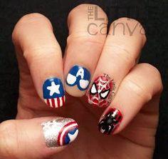 captain america nail art - Google keresés