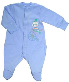Pyjama naissance coton bleu - Vêtement naissance bébé garçon