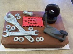 pictures of cakes for mechanics - Yahoo Image Search Results Fancy Cakes, Cute Cakes, Cake Icing, Cupcake Cakes, Motor Cake, Mechanic Cake, Tire Cake, Foto Pastel, 21st Cake