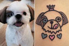 Artista transforma bichinhos de estimação em tatuagens fofíssimas