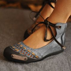 Memela Clearance sale Womens Sandals Closed Pointed Toe Buckled Criss Cross Casual Pumps Flat Ankle Strap Shoes