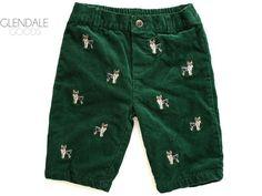 Ralph Lauren Corduroy Pants 6 M Months Baby Boy Green Dog Terrier #RalphLauren #RalphLaurenKids #corduroy #kidsfashion