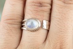 Silver Rings – Moonstone Ring, Moonstone jewelry, Silver Jewelry – a unique product by ArtisanJewellery on DaWanda