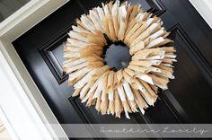 burlap {book} wreath