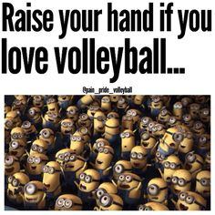 Raised and waving!!! #Despicable me #Minions #Volley funny stuff