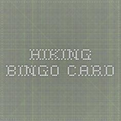 Hiking Bingo Card--American Hiking Association