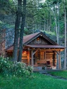Log cabin | dream | woods
