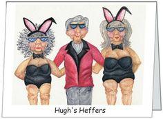 Folded 4x8 humorous notecard  - Hughs Heffers