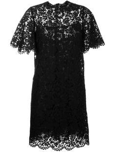 Valentino robe en dentelle à coupe évasée