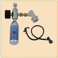 Mini Ball Lock CO2 Regulator Assembly. You get the mini regulator, (2) 74 gram CO2 Cylinders, Gas Ball Lock Connector, Liquid QD, Tubing and Faucet. I have a similar mini regulator. Use this... f...