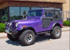I  want a Jeep, preferably a purple jeep. Must be the tiger blood in me.  Plus, Jeeps are awesome, just like the LSU Tigers!!