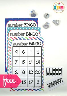 I love this Number BINGO math game for kids! So excited that it practices those tricky teen numbers too. Fun activity for kindergarten. You can play it whole class or in small groups as a math center Numbers Kindergarten, Numbers Preschool, Math Numbers, Preschool Math, Math Classroom, Teaching Math, Kids Numbers, Maths, Math Activities For Kindergarten