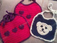 Crochet Baby Bib With Contrast Trim · A Baby Bib · Yarncraft on ...