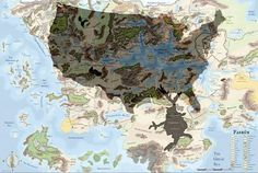 Map Of Faerun Things I Like Pinterest Forgotten
