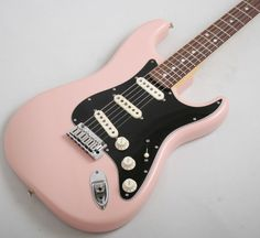 """Fender Custom Shop 2013 Stratocaster Pro Closet Classic (Shell Pink)  2013 COLLECTION STRAT PRO CC RW: Closet Classic Lacquer Finish; Lightweight Ash Body; Oiled Neck; Quartersawn Maple Neck with an Early '60s Oval """"C"""" Back-Shape; Dark Rosewood Fretboard with a 9.5"""" Radius; 22 6105 Frets; Fat 50s Strat®Pickups; 5 Way Switch; Three-Ply Black Pickguard; Modern Wiring; Custom Classic Bridge with Trem; Locking Machine Heads; Micarta Nut. £1899 #fender #custom #stratocaster #pink #shellpink"""