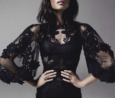 Gothic blouse Lacey Victorian