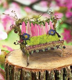 Fairy-House-pink-bench - The Fantastical World of Fairy Houses
