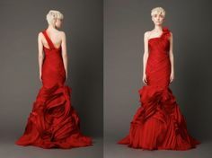 Vera Wang Spring 2013 Look 9 Red Wedding Dress