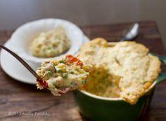 Creamy Cashew Veggie Pot Pie. Flaky Biscuit Crust. Comfort Food.