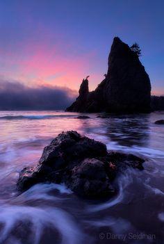 Dusk - Olympic Coast, Washington http://www.stopsleepgo.com/vacation-rentals/washington/united-states