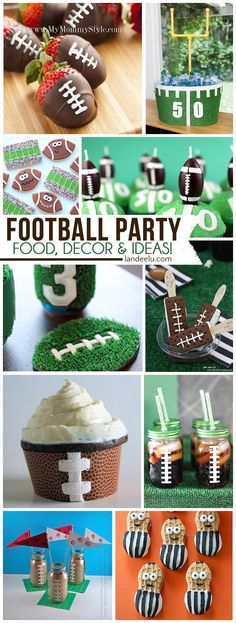 DIY Football Party Ideas Perfect for Team Parties, Birthdays and SUPER BOWL! : No football party would be able to compare with these fun ideas. Football Banquet, Football Tailgate, Football Birthday, Football Season, Flag Football Party, Football Candy Table, Razorback Party, Tackle Football, Football Baby Shower