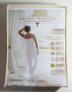 """Fabrictech with Omniguard Advance Full Xl 8-14"""" Deep 6 Sided Mattress Protector Cover by Fabrictech. $40.00. Bed Bug Proof, Allergen Proof, Dust Mite Proof, Waterproof Surface. 6 Sided Mattress Cover for Full XL Size Bed 8-14"""" Deep. Mold & Mildew Resistant, Breathable OmniGuard Advance Fabric. Bedbug Dust Mite Protective Full Mattress Cover. Waterproof 6 Sided Cover"""