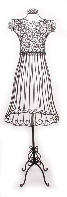 maison-18 black wire mannequin