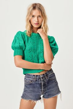 Brooke Pointelle Sweater – For Love & Lemons