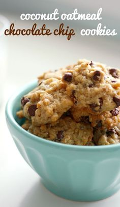 DELICIOUS and easy coconut chocolate chip cookies. A favorite!