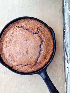 @leprixfixe said: I made @goodappetite's brown butter skillet corn bread with blue corn meal - and it turned out ridiculously good.