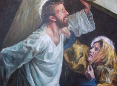 Rob Floyd Fine Art - Stations of the Cross, Christ Meets His Mother (Fourth Station)102cm x 140cm