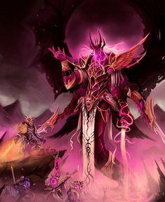 Daemon Primarch Fulgrim by The Mothman