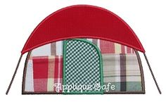 Tent Applique - 3 Sizes! | Camping | Machine Embroidery Designs | SWAKembroidery.com Applique Cafe