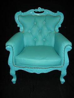 turquoise blue baroque by baroquesrougerose on Etsy, €540.00