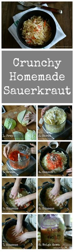 Lithuanian Sauerkraut (Rauginti Kopustai) with step-by-step instructions.